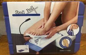 Stedi Pedi Pedicure Stand New in Box  Bonus: Magnifying Glass Attachment NEW