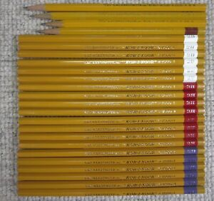 Vtg L&C Hardtmuth Koh-I-Noor 1500 Wood Pencil Lot of 24 20 Unsharpened 2B 2H 4B