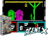 Sinclair ZX Spectrum 48K Game - AGENT X - Mastertronic - Tested & Working