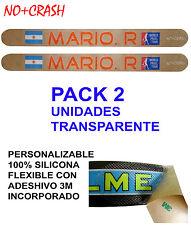 PACK 2 Protector Pala Padel  PERSONALIZADO TRANSPARENTE L