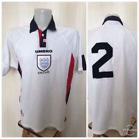 England national team 1997/1999 home Sz XL football shirt jersey maillot soccer
