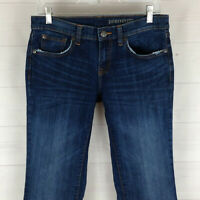 GAP womens size 6 Ankle stretch blue distressed dark wash mid rise bootcut jeans