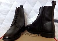 Equi Comfort,Reitstiefelette,mit Schnürung und RV seitlich,Leder,schwarz,Gr.36