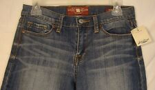 New Lucky Brand Sofia Boot Jeans 6 / 28 100% Cotton Blue Denim Ankle Length NWT