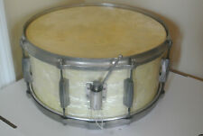"40'S GRETSCH 14"" BROADKASTER WHITE PEARL SNARE DRUM for your DRUM SET #G103"