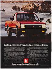 Original 1982 Isuzu Diesel Truck Vintage Print Ad