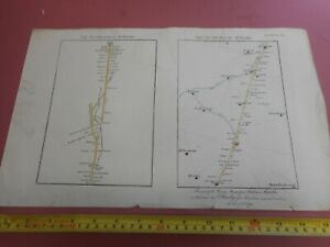 100%ORIGINAL FOSSE WAY ROAD MAP  LEICESTERSHIRE BY THROSBY  C1791 HAND COLOURED