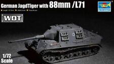 German Jagdtiger With 88mm Pak /l71 Tank 1:72 Plastic Model Kit TRUMPETER