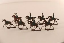 Heirichsen Lot de 8 soldats cavaliers armée métal ancien 28 mm en étain