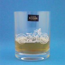 Bohemia Crystal Whisky Glass With Harley Davidson Design with gift box