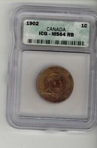1902 – CANADA – 0.01¢ (LARGE Cent) – ICG MS64 RB