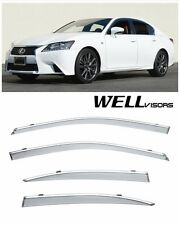 For 2013--UP Lexus GS-Series WellVisors Side Window Visors with Chrome Trim