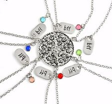 BFF Necklace Pizza Best Friend Necklaces Pendant Friendship Jewelry Charm - 6pcs