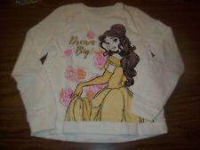 Youth Girls Disney Princess Belle Sweat Shirt - Sz 10 - New NWT - Softest Fleece