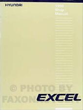 1990 Hyundai Excel Shop Manual 90 Original Repair Service Book OEM GL GS GLS