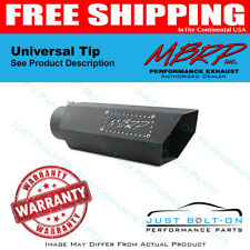 MBRP Universal Hex Tip 4in Inlet 16in Length w/ Logo - Black Coated T5164BLK
