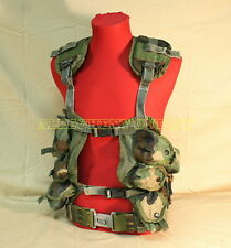 US Military LOAD BEARING VEST Tactical LBV w/ MEDIUM PISTOL BELT NICE