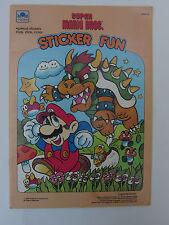 1989 Super Mario Bros. Sticker Fun book