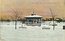The Snow-Covered Band Stand in Winter, Branch Brook Park, Newark NJ 1908
