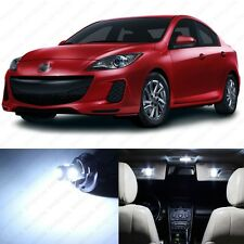 6 x Xenon White LED Interior Lights Package For 2010 - 2013 Mazda 3 MS3 Sedan