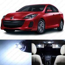 6 x Xenon White LED Interior Lights Package For 2010 - 2013 Mazda 3 MS3 Sedan