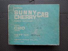 JDM NISSAN SUNNY CAB / CHERRY CAB Truck/Van C20 Original Genuine Parts Catalog