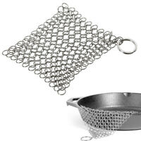 Stainless Steel Skillet Cast Iron Cleaning Chainmail Ringer Scrubber#USA STOCK