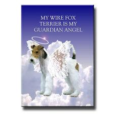 Wire Fox Terrier Guardian Angel Fridge Magnet New Dog
