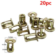 20 PCS 10mm  Car Metal Screw Base Clamp Fastener