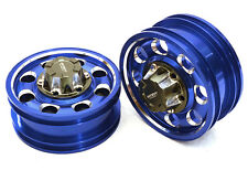 ALL TAMIYA 1/14 TRACTOR TRAILER FRONT WHEEL  INTEGY C27021BLUE