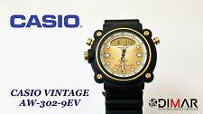 VINTAGE CASIO AW-302-9EV ANA/DIGI DIVER WR.100 QW.364 JAPAN AÑO 1990