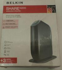 Belkin SHARE N300 Wireless N Router WiFi+1x USB Print Server or Storge F7D3302AU