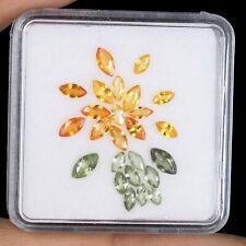 25 Pcs Natural Sapphire Yellow Green Marquise Cut Top Quality Gemstones Ceylon