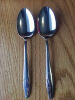 4 Oneida Stainless Steel Profile Oneidacraft Deluxe Solid Serving Spoons