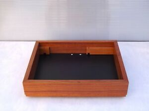 THORENS TD-125 solid MAHOGANY wood PLINTH (without turntable!)