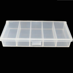Containers Fishing Hook Box Transparent Lure Boxes Lure Hooks 5 Compartments CH