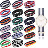 Unisex Infantry Military Army Buckle Nylon Wrist Watch Band Fabric Strap 18-22mm