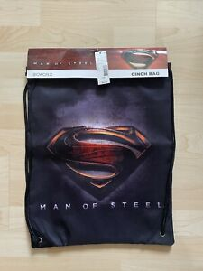 DC Superman Man Of Steel Drawstring Cinch Backpack Bag Bioworld New With Tags
