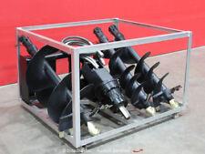 Greatbear Auger Earth Drill Hydraulic Skid Steer Attachment w/Bits bidadoo -New
