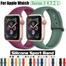 For Apple Watch Series 5 4 3 2 Silicone Sports Band Strap 38/42/40/44mm Bracelet