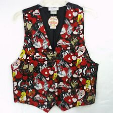 Vintage 90s Looney Tunes Silky Valentines Hearts Vest Top One Size NOS Bugs Taz