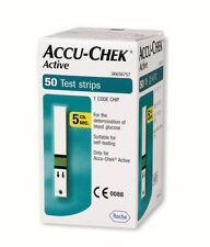 50 Test Strips of Accu Chek Active Blood Sugar Monitoring Device Glucometer