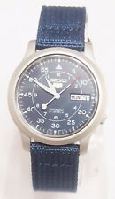 SEIKO 5 SNK807K2 Fabric Band Automatic Men's Blue Watch Brand New & Gift