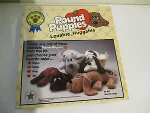 VINTAGE POUND PUPPY HUGABLE PLUSH DOLL KIT 1985 MILLCRAFT stuffed animal dog