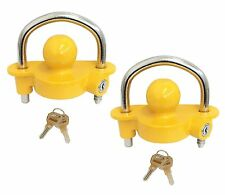 "( Qity 2 ) NEW Universal Coupler Hitch Trailer Lock fits 1-7/8"", 2"", and 2-5/16"""