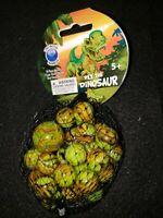 Mega marbles Net 24 plus 1 Collectors Series Rex the Dinosaur swirl
