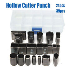 24//39 Shape Style Hole Hollow Cutter Punch Set for Handmade Leather Craft DIY