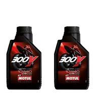 2 LT OLIO MOTUL 300V 10W40 FACTORY LINE MOTO RACING ESTER CORE 100% SINTETICO