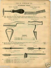1909 PAPER AD Plumbers' Tools Osorne Chipping Knife Yager's Salt Solder Coppers
