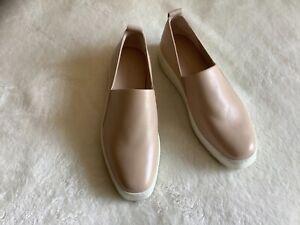 Vince walking shoes sneakers beige leather sz 7